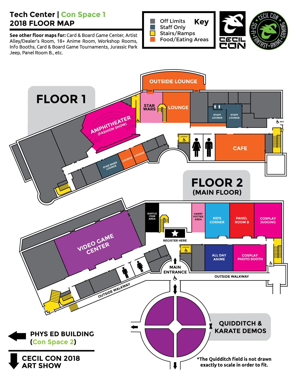 Cecil Con 2018 Tech Center Floor Map
