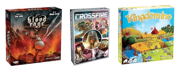 Blood Rage, Crossfire, Kingdomino Card & Board Game Center Cecil Con